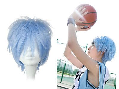 Kuroko no Basuke Basketball Tetsuya Perücke wig Haare Cosplay Blau Kurz Kostüm - Blaue Haare Kostüm