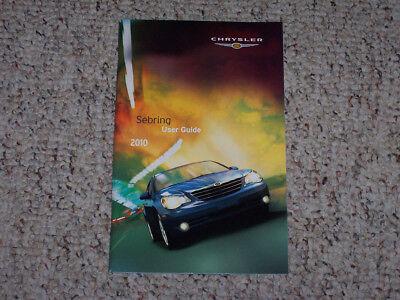 2010 Chrysler Sebring Sedan Owner Owner's Manual User Guide Touring Limited