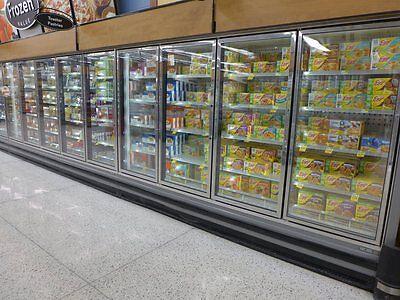 Zone Zone Rvzc 10-door Glass Reach In Grocery Freezer Frozen Ice Cream Led Light