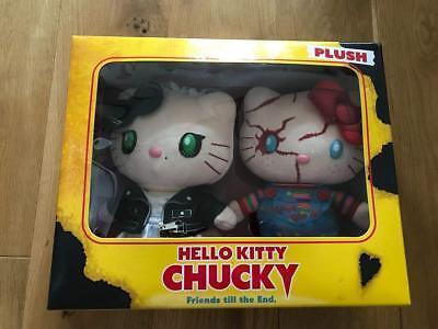 HELLO KITTY x CHUCKY PLUSH & KEYCHAIN SET Universal Studios Japan Halloween 2018 - Universal Studios Japan Halloween