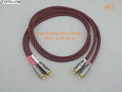 A01(0.5m 1.5ft) --- Pair(2pcs) Canare L-4E6S Star Quad RCA Audio Cables