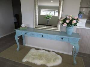 French Provincial Hall Table/Buffet Duck Egg Blue Solid Timber Gisborne Macedon Ranges Preview
