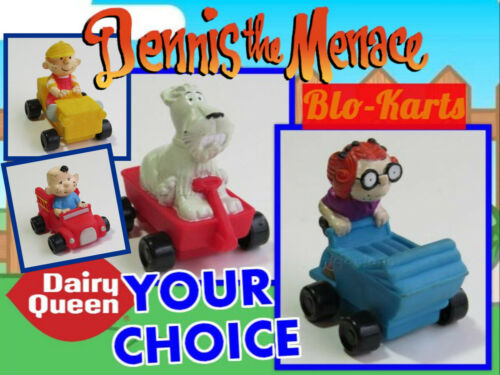 LOOSE Dairy Queen DQ 1997 DENNIS THE MENACE Blo Kart NO LAUNCHER Your TOY CHOICE