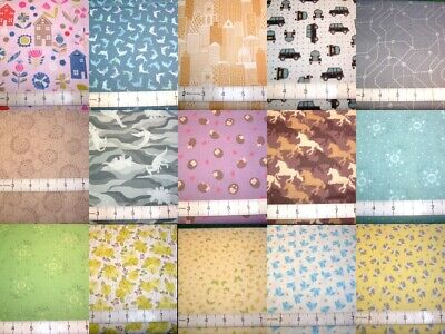LEWIS & IRENE QUIRKY FABRICS CLEARANCE 100% cotton patchwork fabric free UK p&p