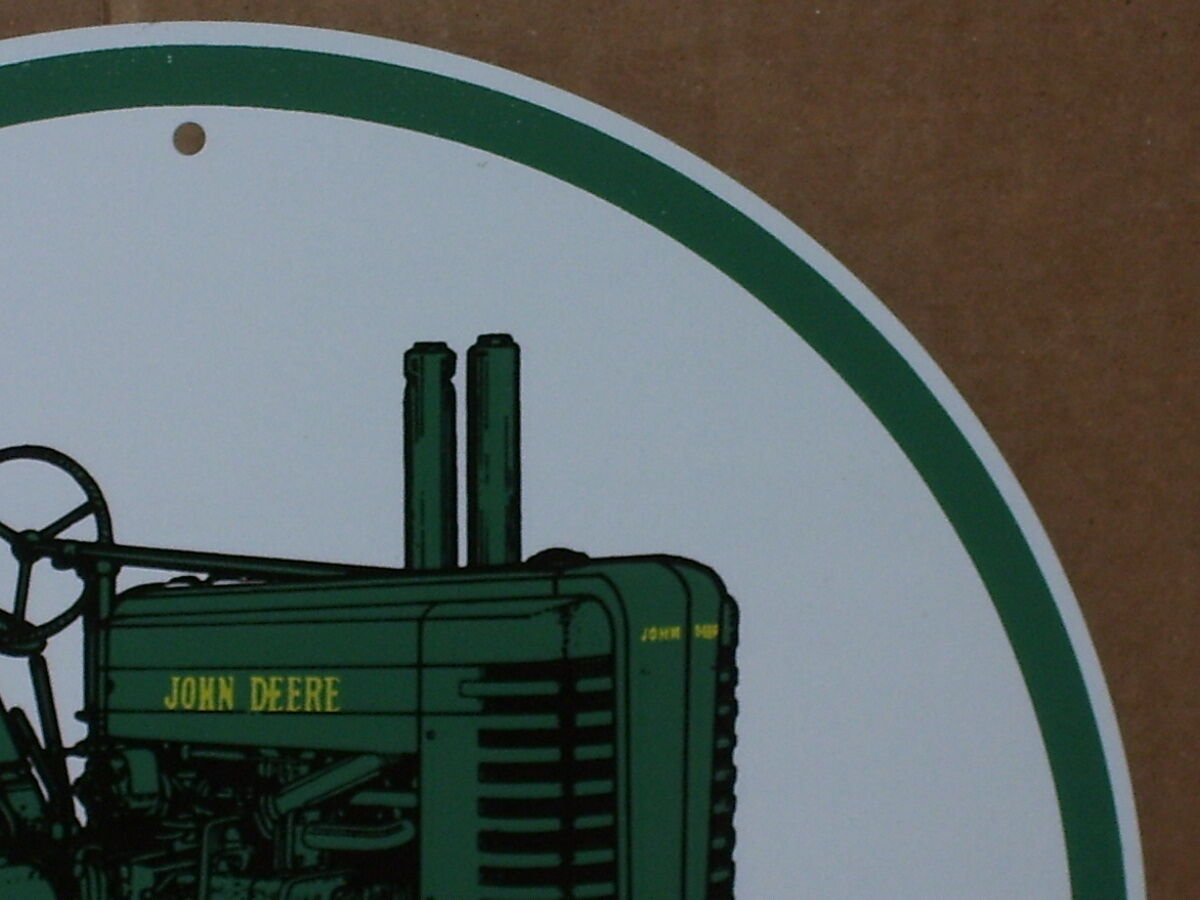 John Deere Tractor Shows : John deere model a tractor round tin sign shows