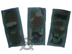 New-3-Genuine-Military-Issue-MOLLE-II-Double-Mag-Pouch-Woodland-Camo-USGI-SDS
