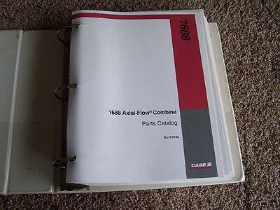 Case International Harvester Axial Flow Combine 1688 Parts Catalog Manual