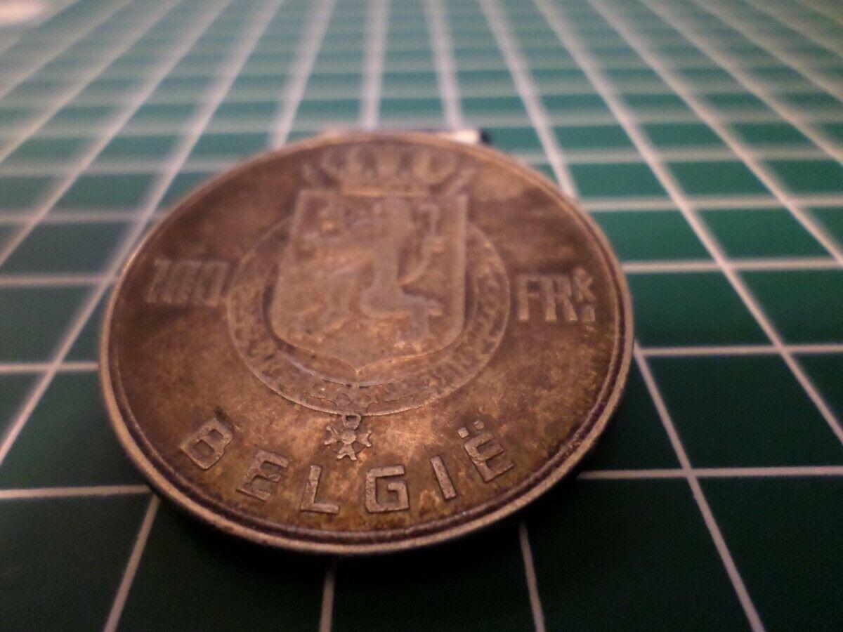 BELGIUM 100 FRANCS SILVER COIN 1951