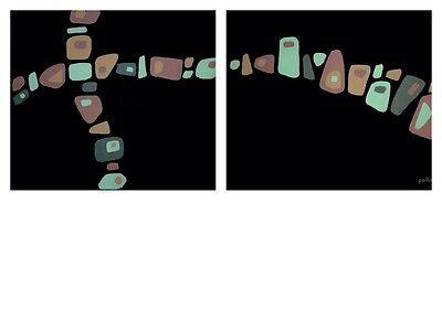 - Amoeba Abstract Paintings Set Of 2 pollard original biology art modern canvas