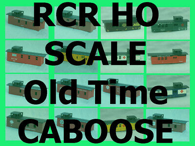 RCR - CABOOSE 3 WINDOW WOOD - WABASH RAILROAD #2799