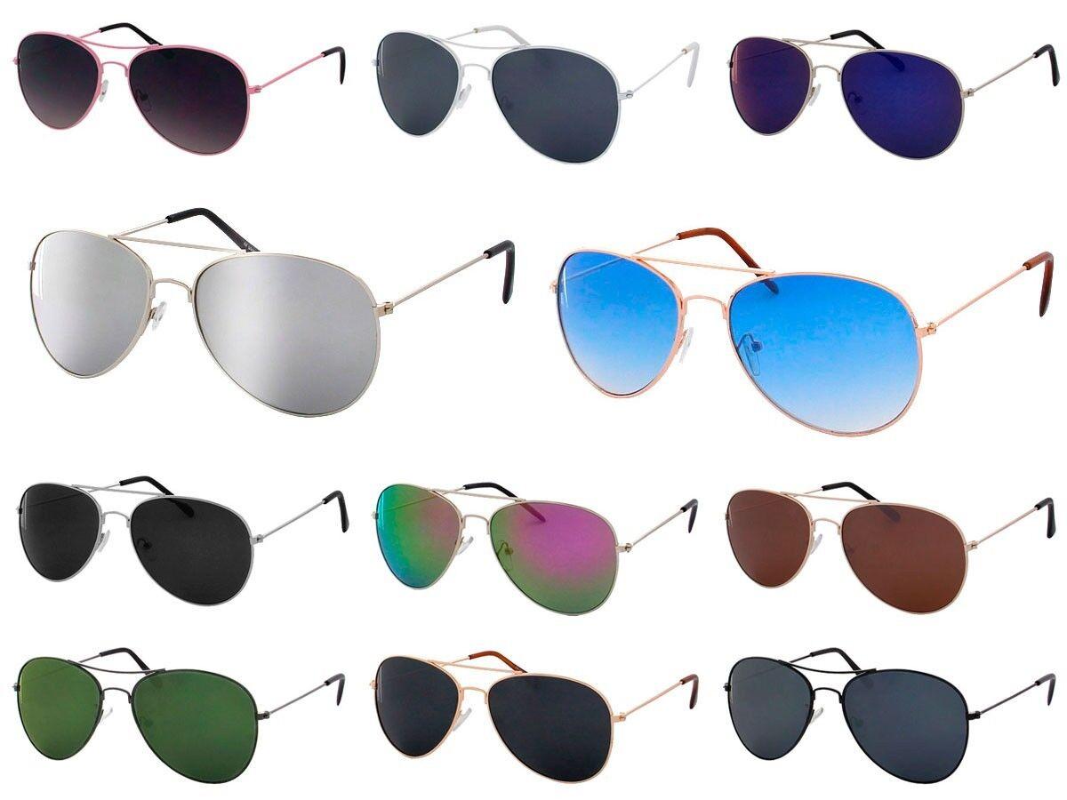 Pilotenbrille Sonnenbrille Aviator Damen Herren Retro Pornobrille Brille Brillen