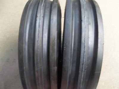 Two 350x6350-6 3.50x63.50-6 Front 3 Rib Cub Cadet Easy Steer Tires With Tubes