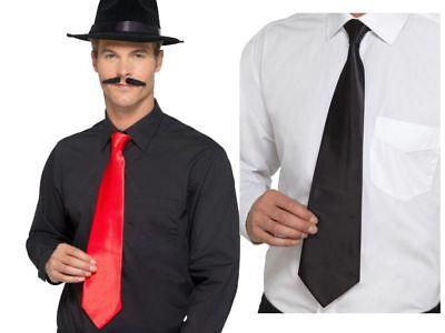 Gangster Krawatte Great Gatsby Kostüm Herren Zubehör 1920s Jahre Rot oder Weiss (Great Gatsby Kostüm Herren)