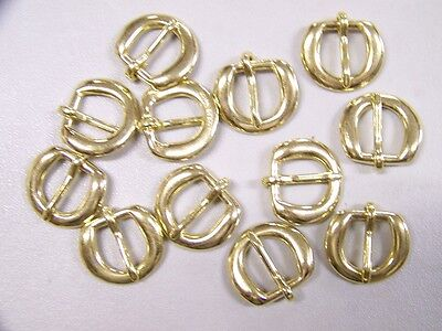 LEATHER CRAFT BUCKLES~~# 5 BUCKLE~~SOLID BRASS~~1/2 INCH SIZE~~(12) QUANTITY