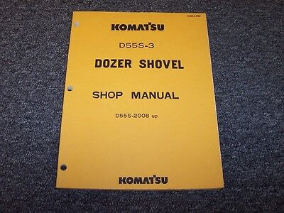 Komatsu D55s 3 Track Loader Crawler Dozer Shovel Shop Service Repair Manual Book