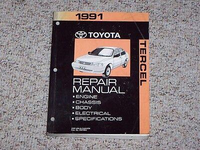 1991 Toyota Tercel Factory Original Shop Service Repair Manual Book