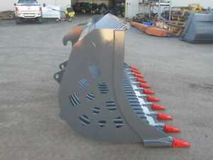 3080mm WIDE RAKE BUCKET WITH TEETH TO SUIT CAT OR KOMATSU IT LOADER - AU18RAKECATIT3000  Kewdale Belmont Area Preview