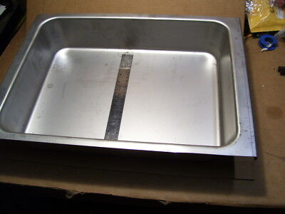 New Large Ss Stainless Steel Tray Pan Tub Bowl19 X 14 X 4 4.6 Gal Capacity 0042