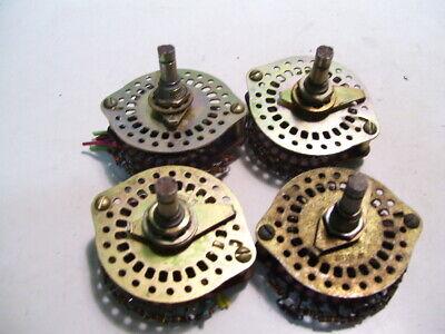4pcs Oak 1 Pole 24 Post Resistor Decade Rotary Switches P3730