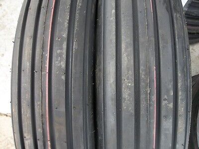 Two 600x166.00-16 Rib Implement Farm Tractor Tires Wtubes 504 Farmall 6 Ply