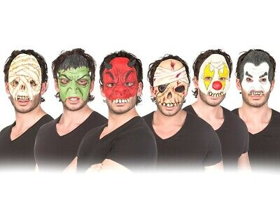 Halbmasken Halloween Horror Kostüme Mumie Zombie Clown Dracula Maske Masken