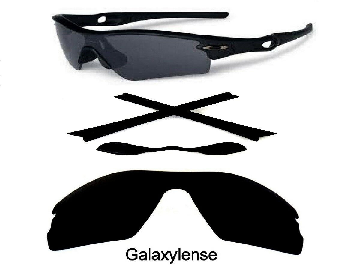 7bc7043821 Details about Galaxy Replacement Black Polarized Lenses + Rubber Kits For Oakley  Radar Path
