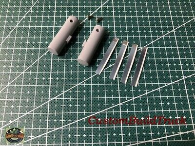 "Custom DCP Peterbilt or KW a pair 1 1/4"" Primer Fuel tanks WIDE bands 1/64"