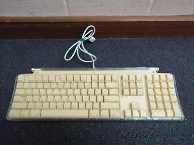 Apple Pro Keyboard M7803 iMac Macintosh Vintage Yellow USB Wired Clear USED