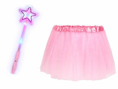Tütü Spaß Outfit für schamlose Männer (Kv-183) Leucht-Stern,Tüllrock-Rosa  ()