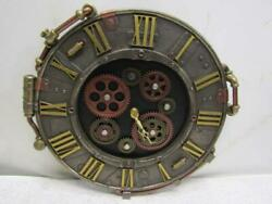 Studio Collection Resin Steampunk Wall Clock With Moving Gears