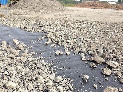 Geotextiles covered with aggregate