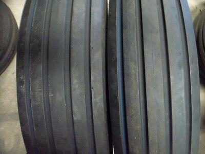 Two 7.50-16750x16750-167.50x16 Rib Implement Discwagon Tractor Tires Wtubes