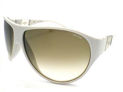 Police Moderne Pilot Sonnenbrille Elfenbein/Grün Farbverlauf S1672 Z09