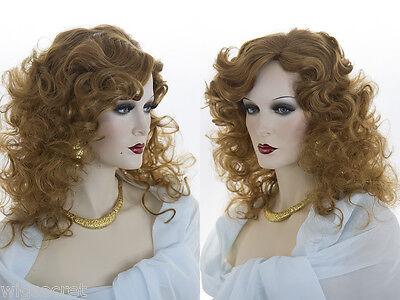 Medium Long Blonde Grey Brunette Red Curly Skin Top Wig (Long Brunette Wig)