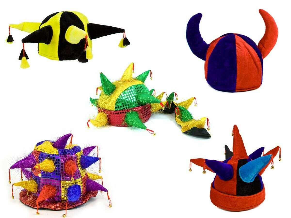 Jecken-Hut Joker Zauberer Hexe Party Fun Karneval Fasching Jecken-Mütze JGA