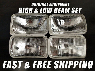 (OE Fit Headlight Bulb For Chevrolet C1500 1988-1991 Pickup Low & High Beam x4)