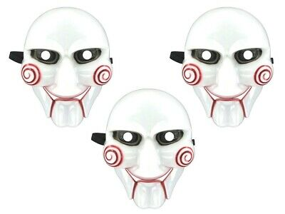 3 Stück Party Maske Saw Jigsaw mit Gummiband Set Karneval Fasching Kostüm - Jigsaw Herren Kostüm
