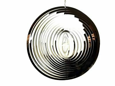 Extra Large Hanging Stainless Steel Garden Wind Spinner Sun Catcher - Circle