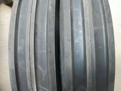 Two 550x16550-165.50x16 Deere Ford Six Ply 3 Rib Tractor Tires Wtubes