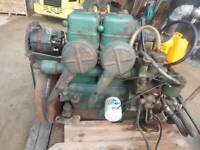 Volvo Penta M2B , 23 HP Marine Diesel Engine / 2 Cylinder with Gear and Panel