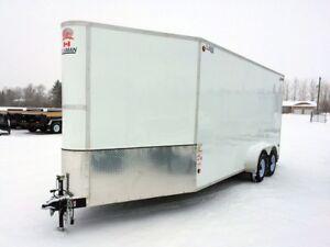 2018 CJAY  FX9-718-72-T35 Enclosed Snowmobile Trailer