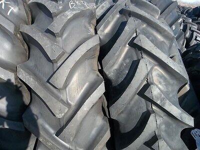 Two 16.9x3016.9-30 Kubota M7040 R1 Bar Lug 10ply Tractor Tires