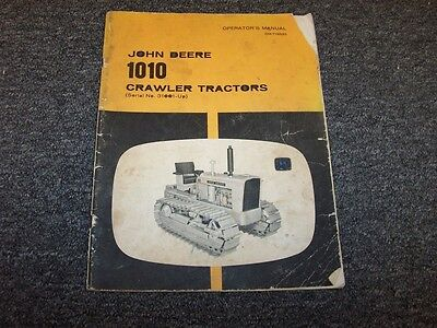 John Deere 1010 Crawler Dozer Tractor Owner Operator User Guide Manual Omt18525