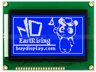 12864 128x64 Blue Graphic Lcd Module Displayst7920 Controllerserial Interface