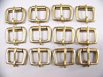 LEATHER CRAFT BUCKLES~~#50 ROLLER BUCKLE~SOLID BRASS~ 1 INCH SIZE~(12) QUANTITY