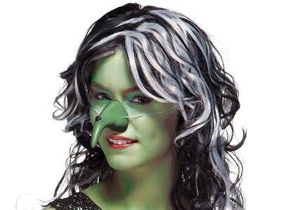 Hexennase Grün 74439 Grusel Warzen-Nase krumm Halloween Karneval Kostüm Zubehör - Krumm Kostüm