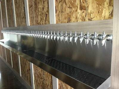 60 Faucet Tap Draft Beer Drip Pan Tray Trap - Stainless Steel - 180 Wide