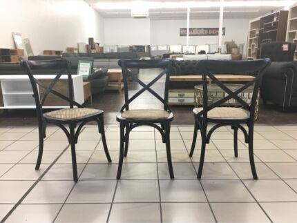 Cross Back Dining Chairs Black Many Available 109 Each