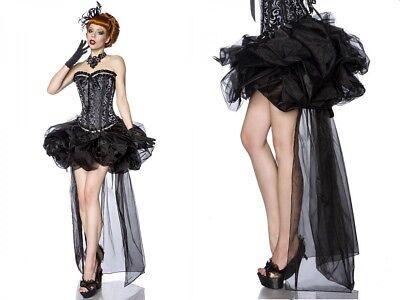 BALLON ORGANZA ROCK burlesque tüll schwarz rockabilly gothic volant vintage