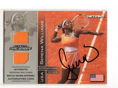 RARE 2003 NetPro SERENA WILLIAMS Rookie Card, Autograph/Game Worn Serial #'d/100